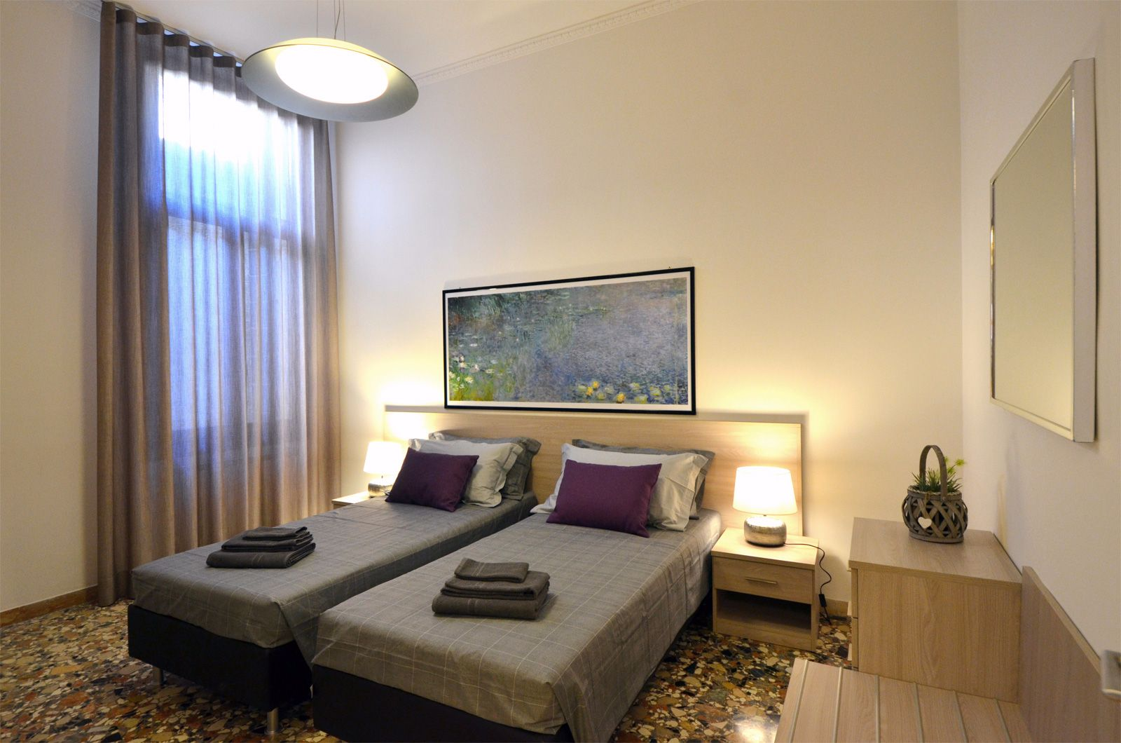 second bedroom, can be prepared as double or twin