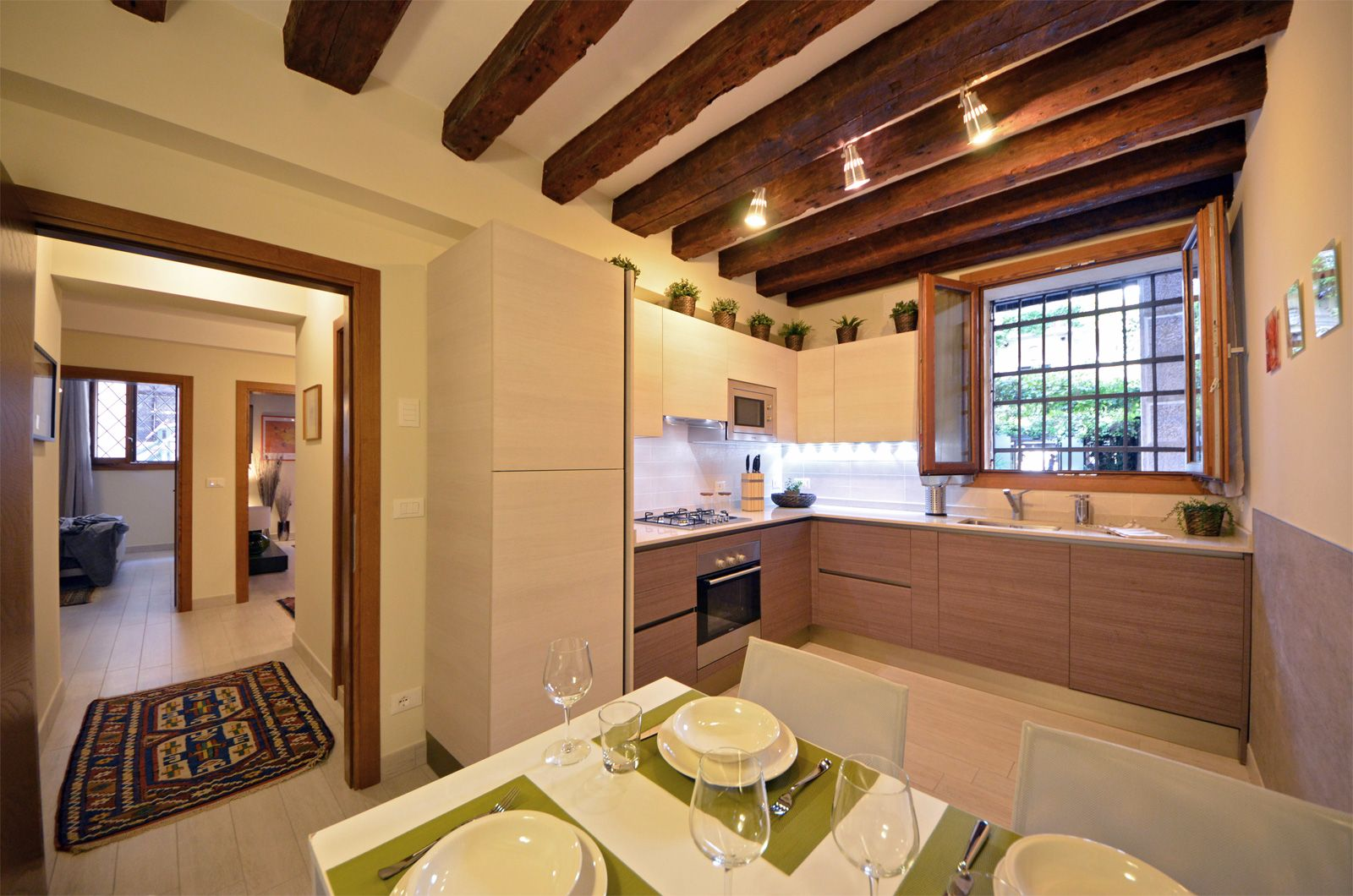 kitchen of the Cà Pesaro Suite