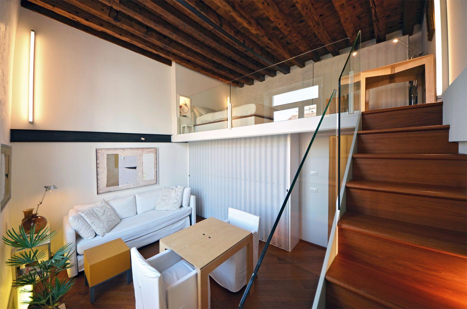 nice parquet flooring and designer furniture