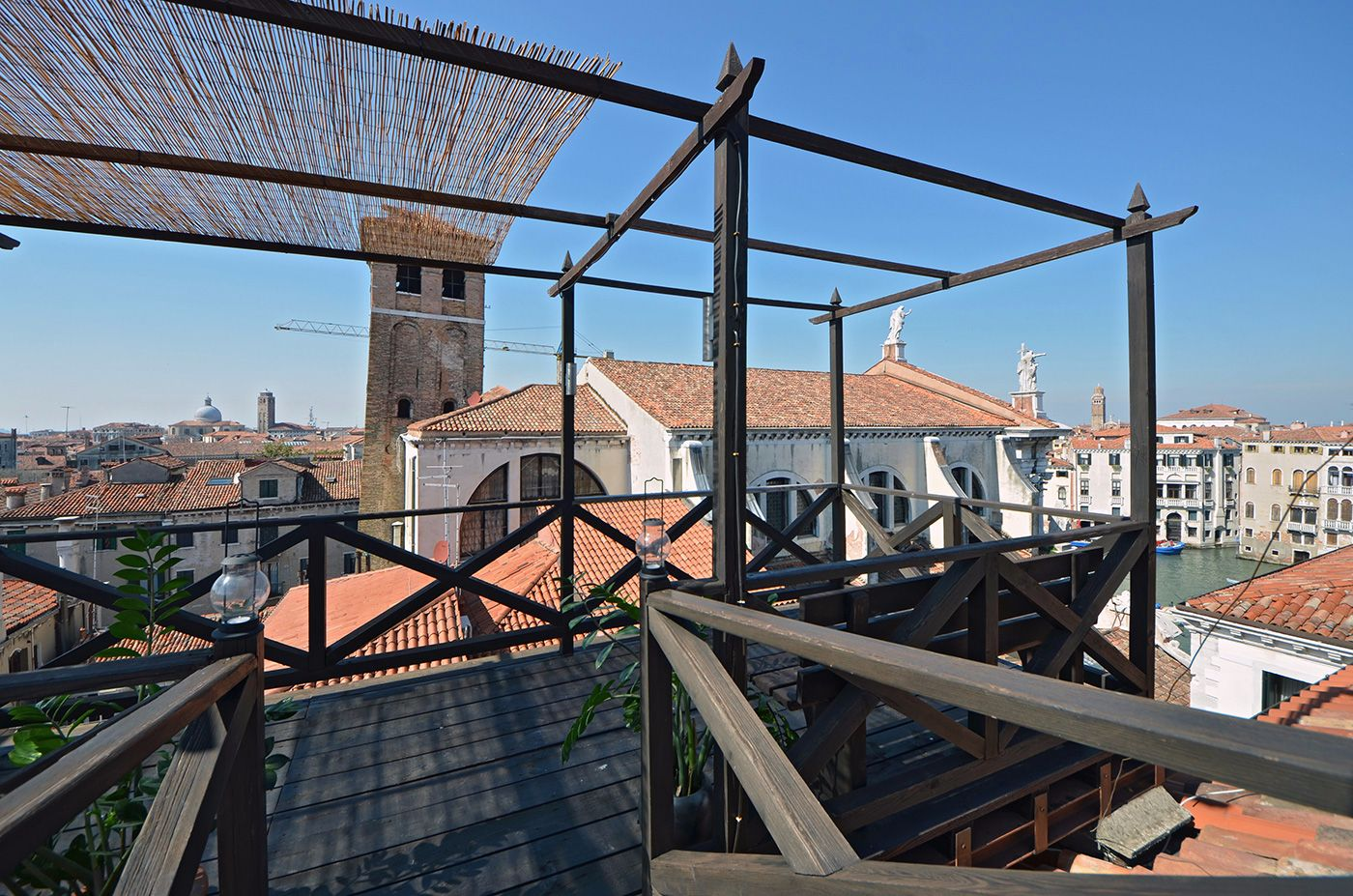 enjoy the stunning panoramic view from the shared roof-top terrace