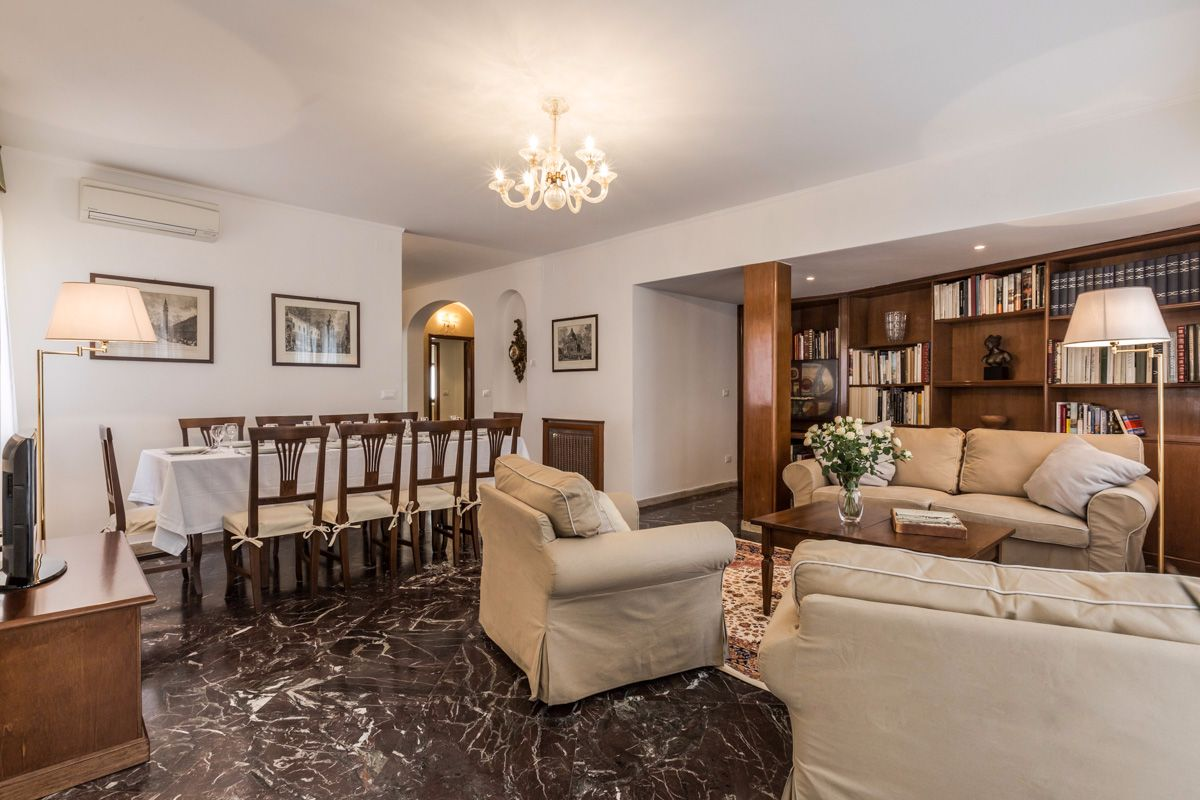 it is fitted with Murano Glass chandeliers and marble flooring