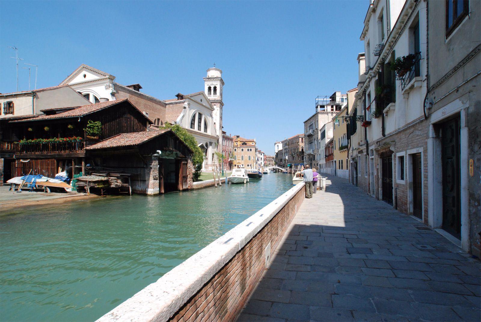 view of Fondamenta di San Trovaso, at your doorsteps