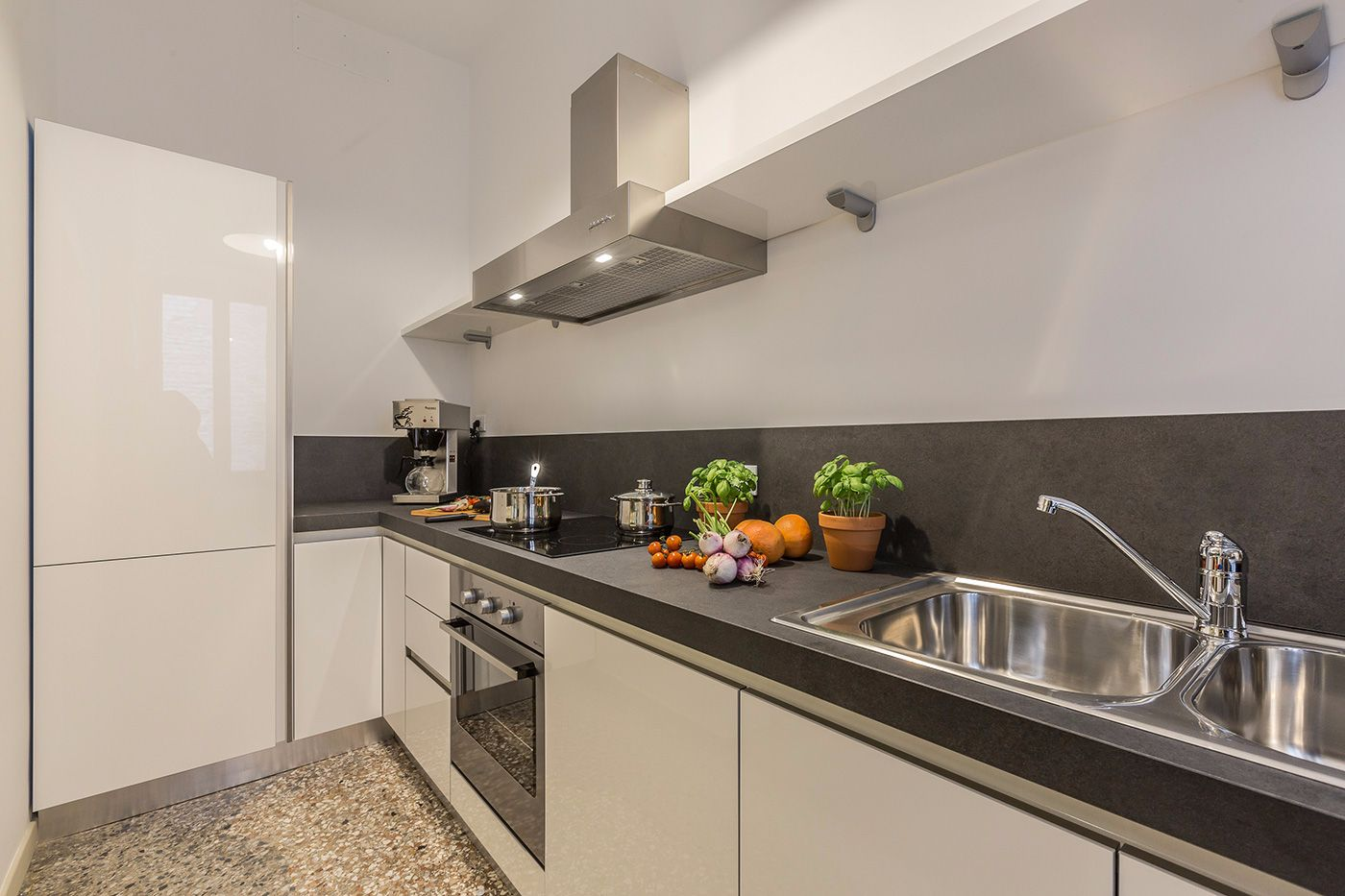 the beautiful kitchen with state-or-art appliances