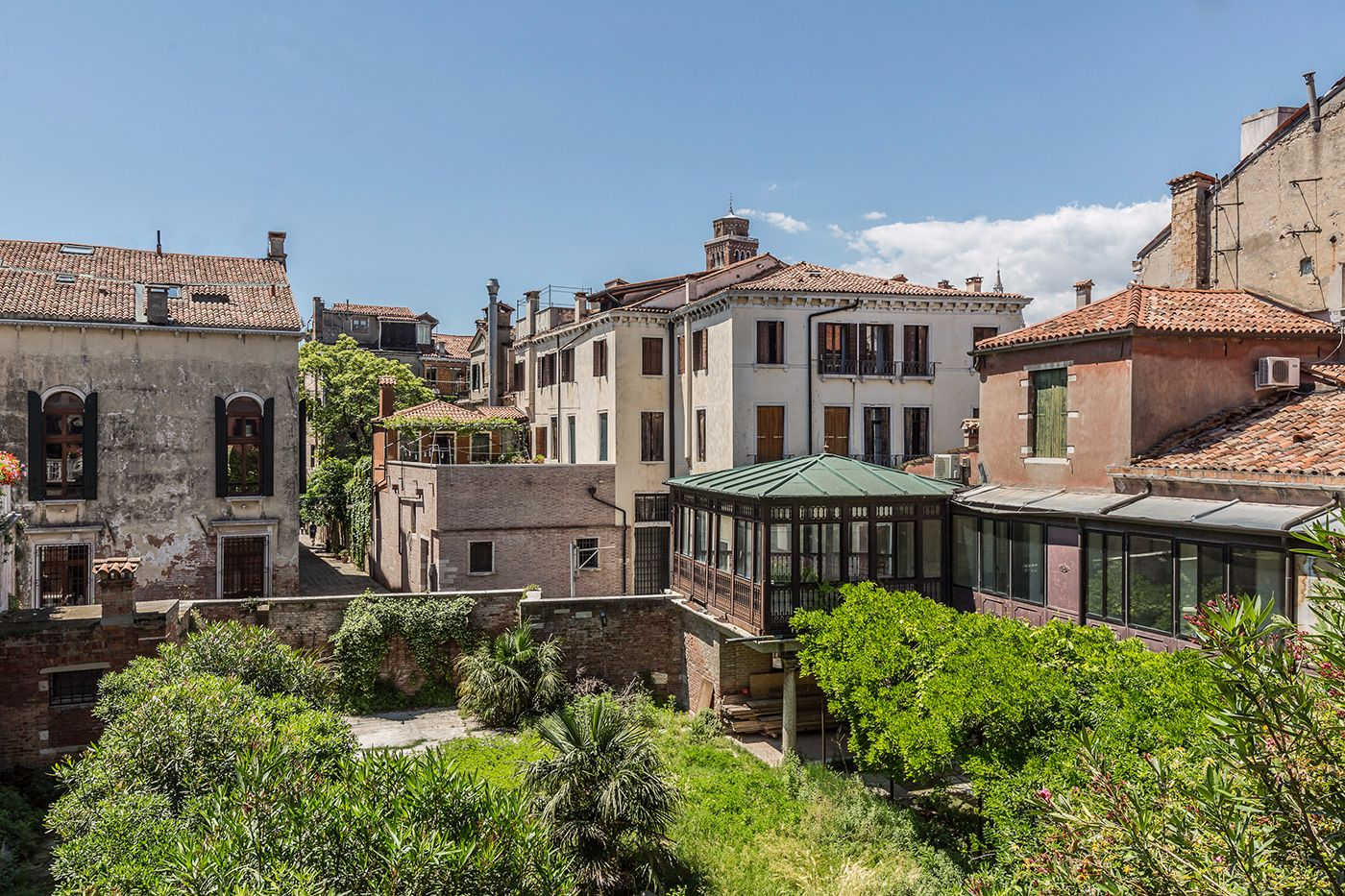 the view from the living room and bedrooms is truly Venetian and relaxing