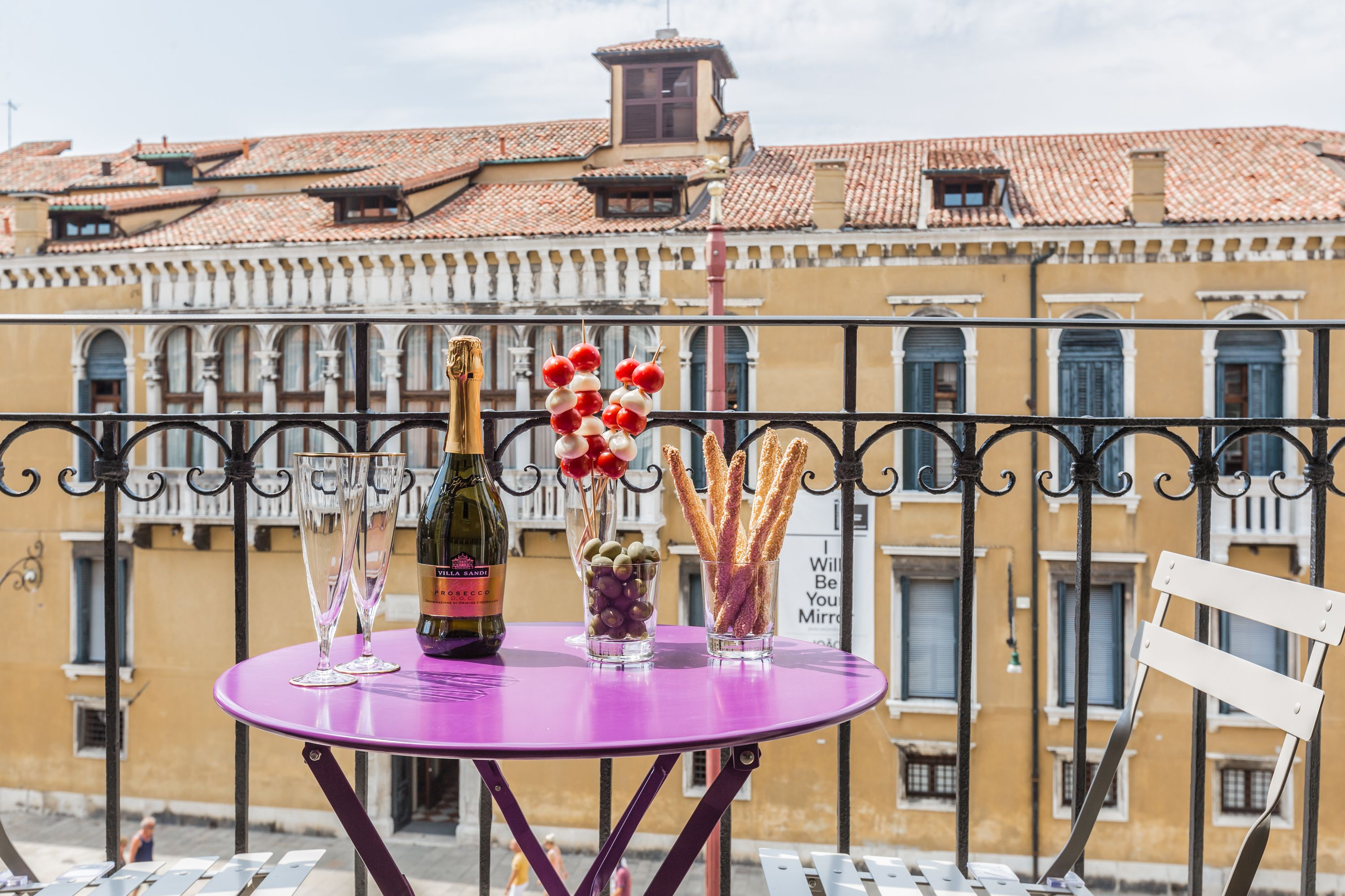 enjoy an aperitive with view at the Manin apartment!