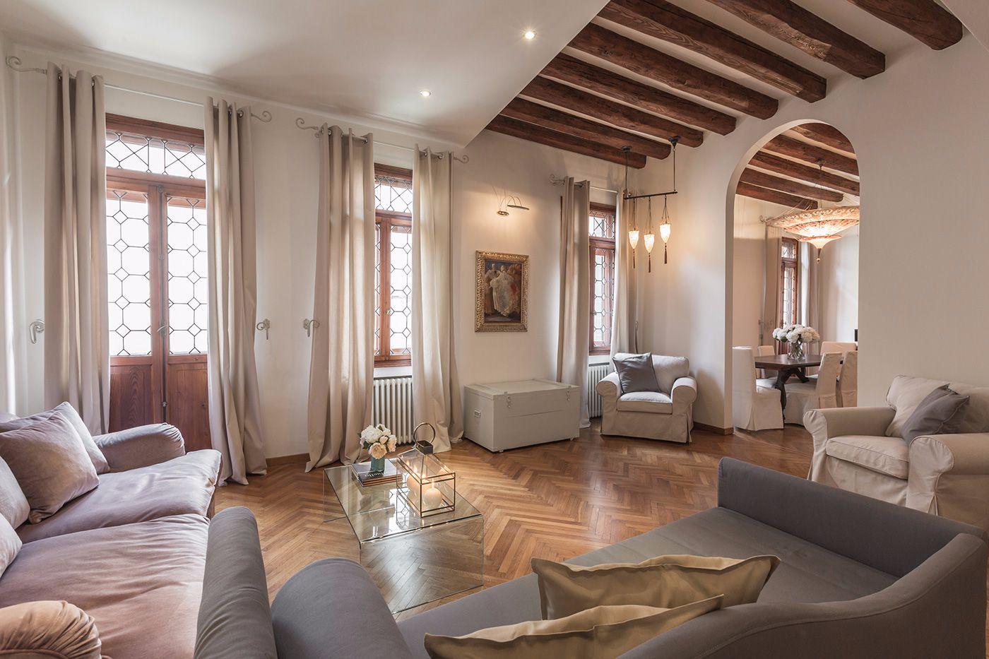 elegant bright and spacious living room of the Da Vinci apartment