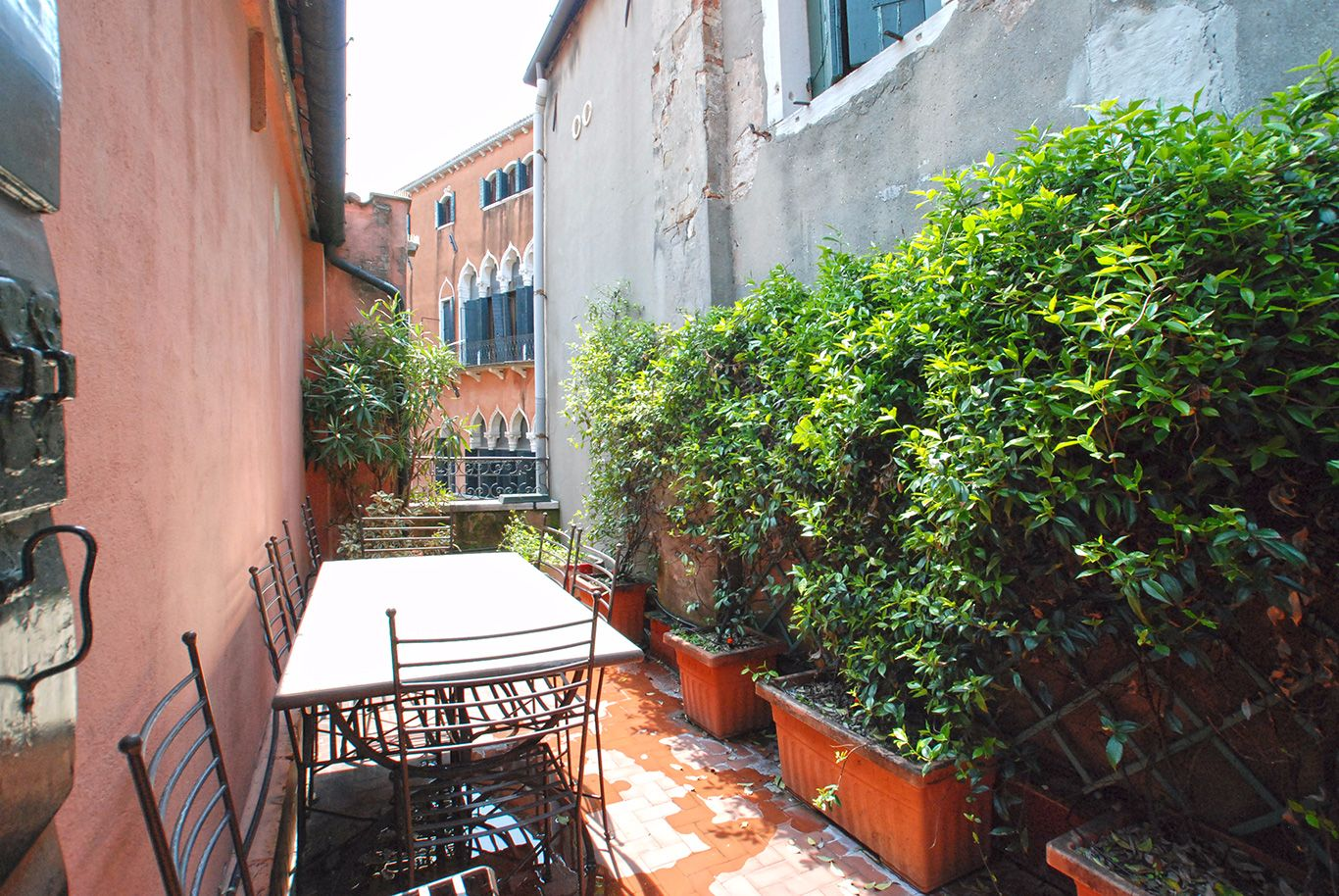 Mocenigo apartment terrace with canal view