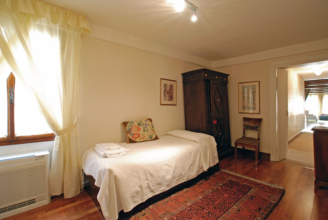 single bedroom next to the master bedroom