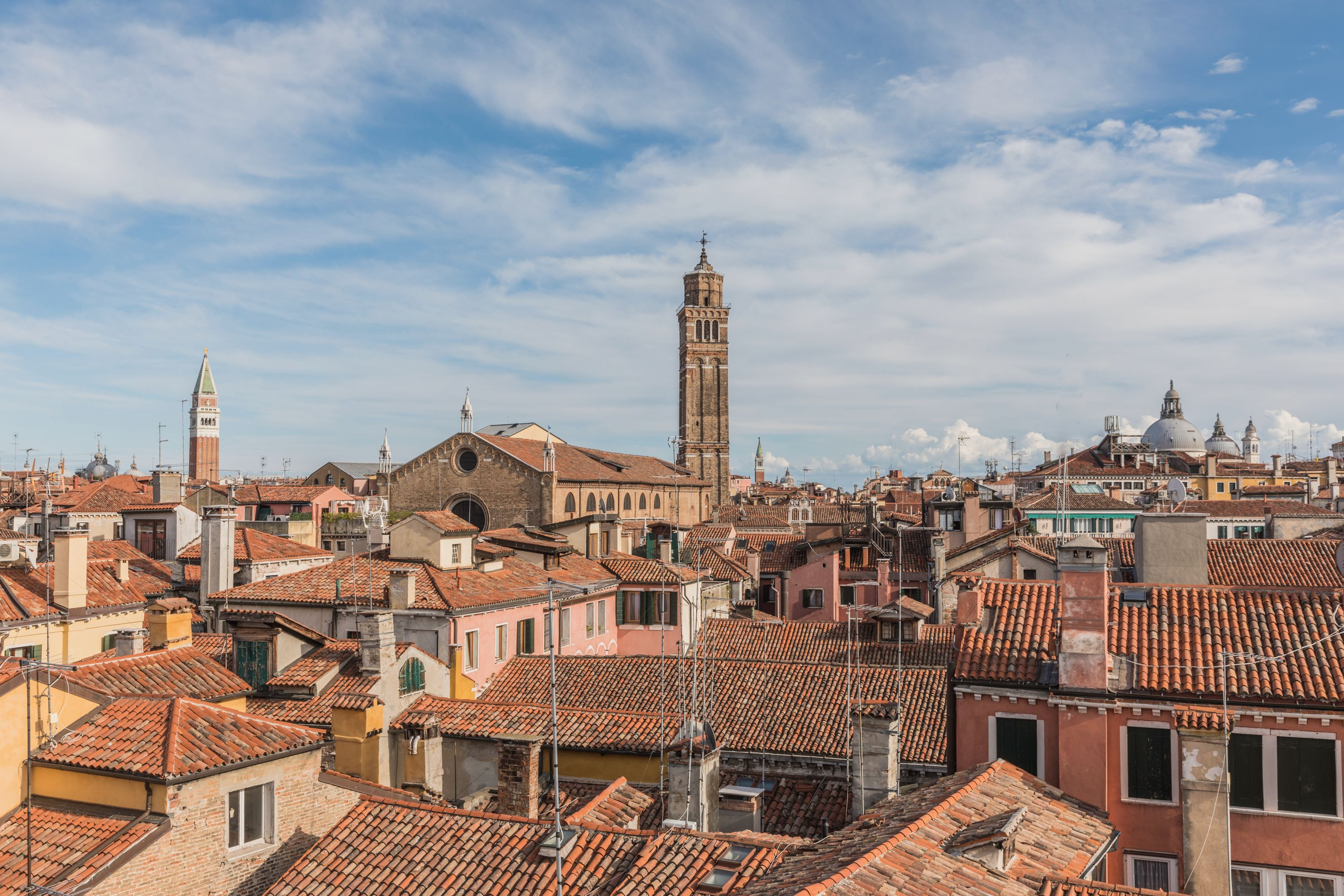 the 360 degrees panoramic view over the roof-tops of San Marco is simply breathtaking!