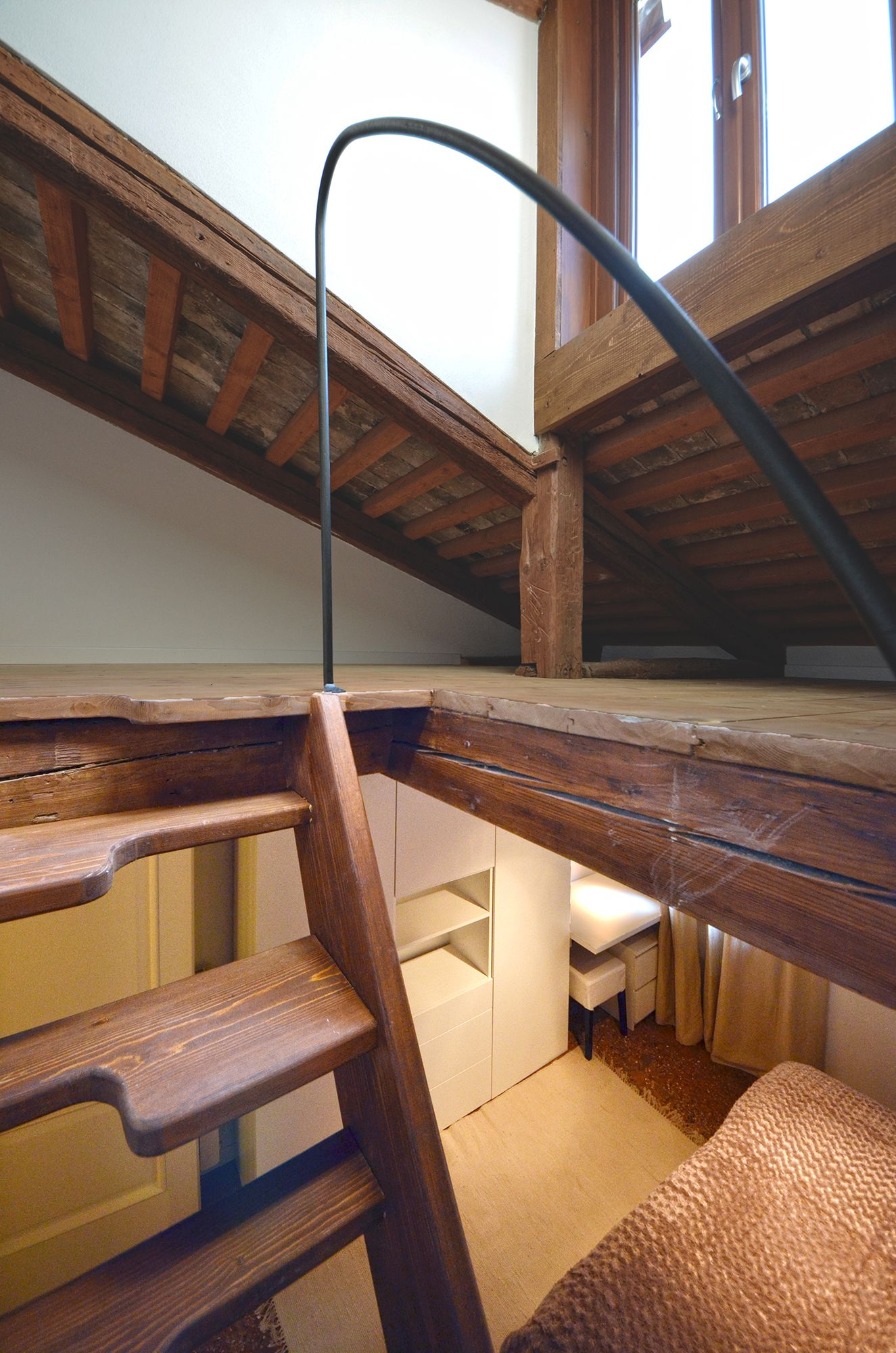 the attic is used as storage room