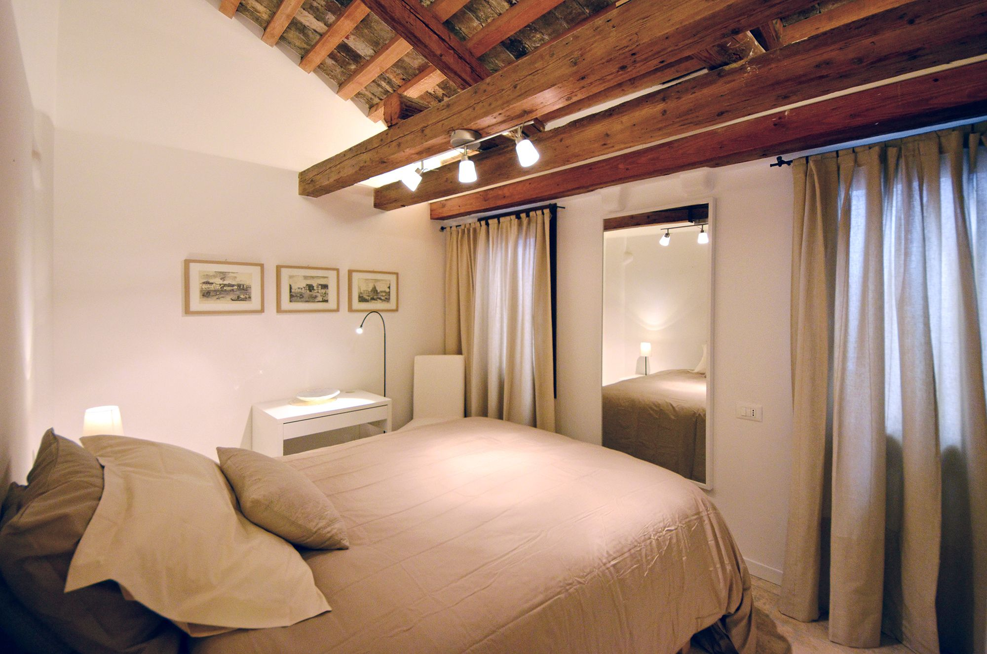 second smaller bedroom with comfortable French size bed (140cm wide)