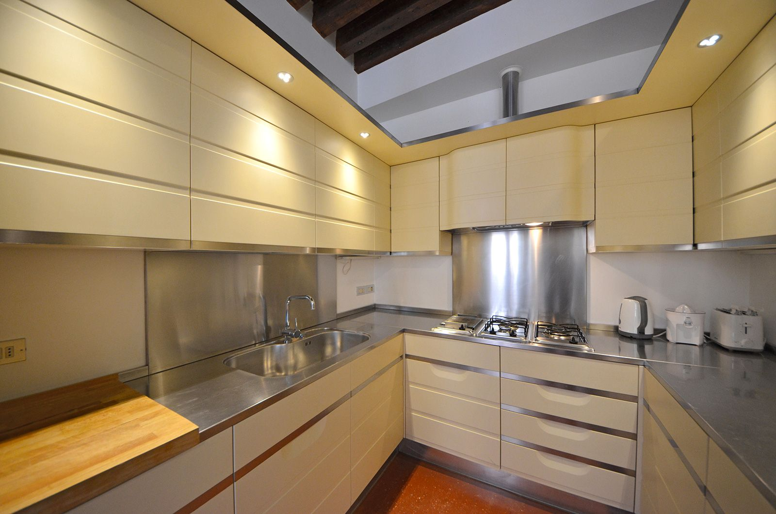 the kitchen is also very spacious and practical