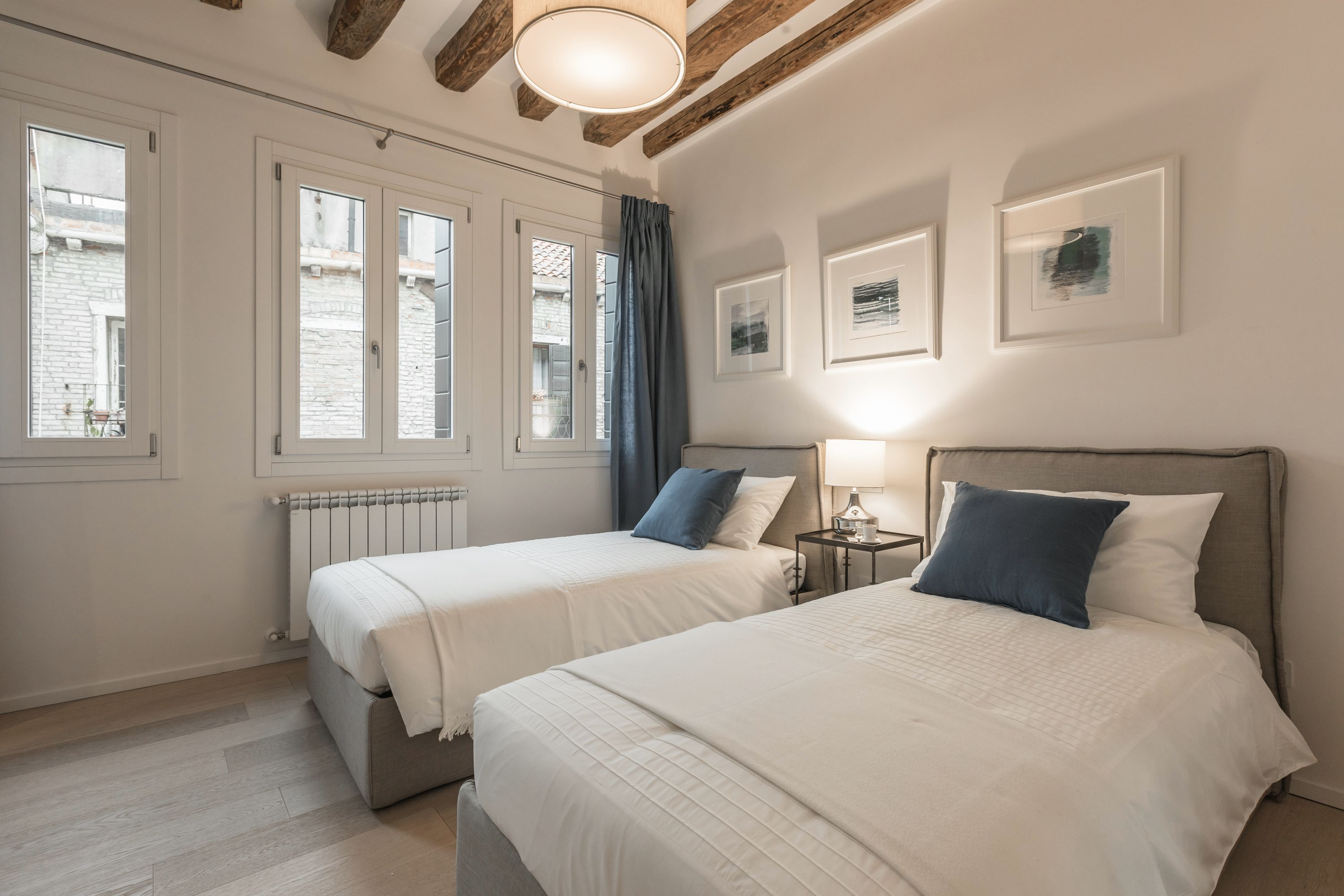 the second bedroom can be used as twin or double, on request