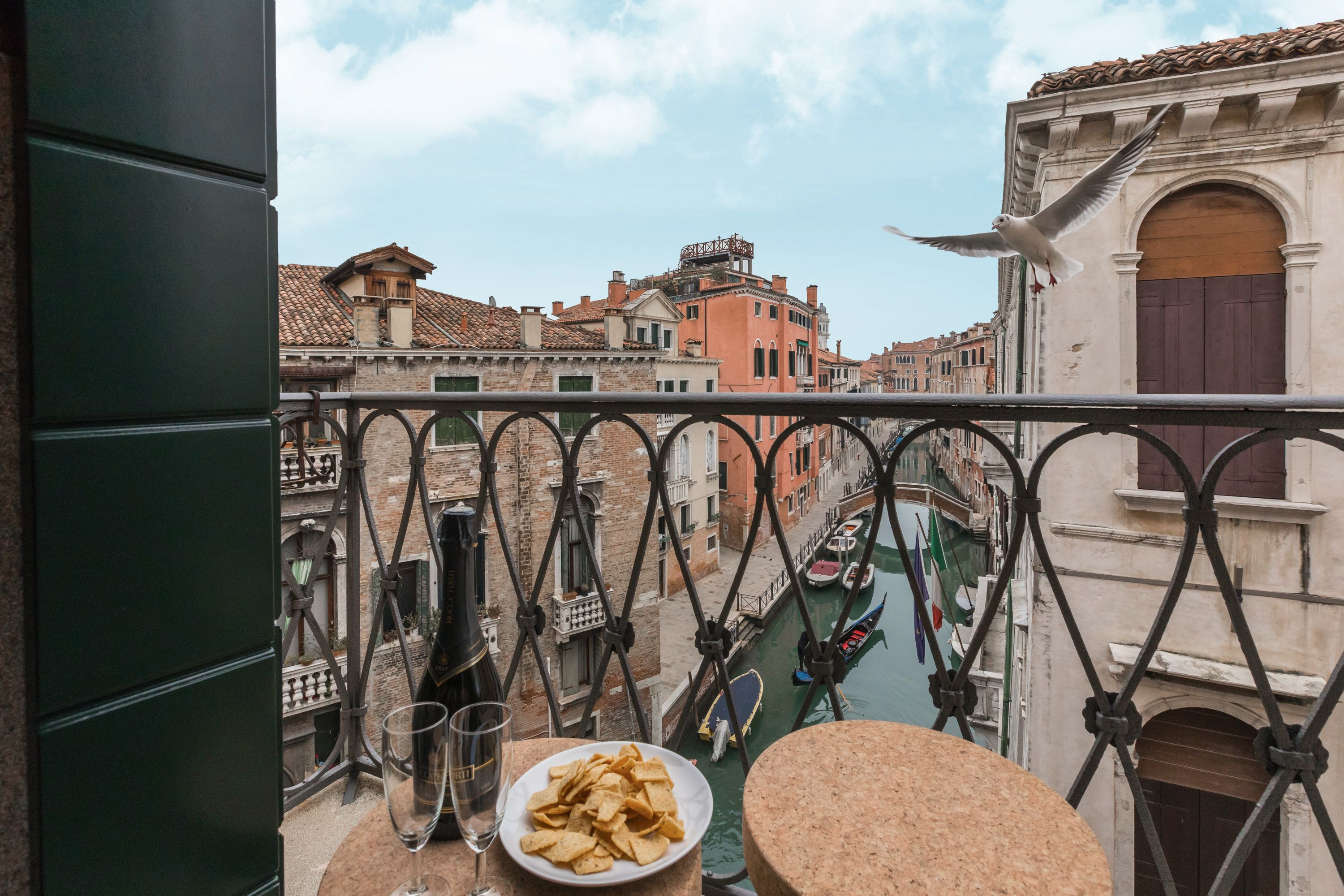 the view from the balcony of the Canaletto is Truly Venetian!
