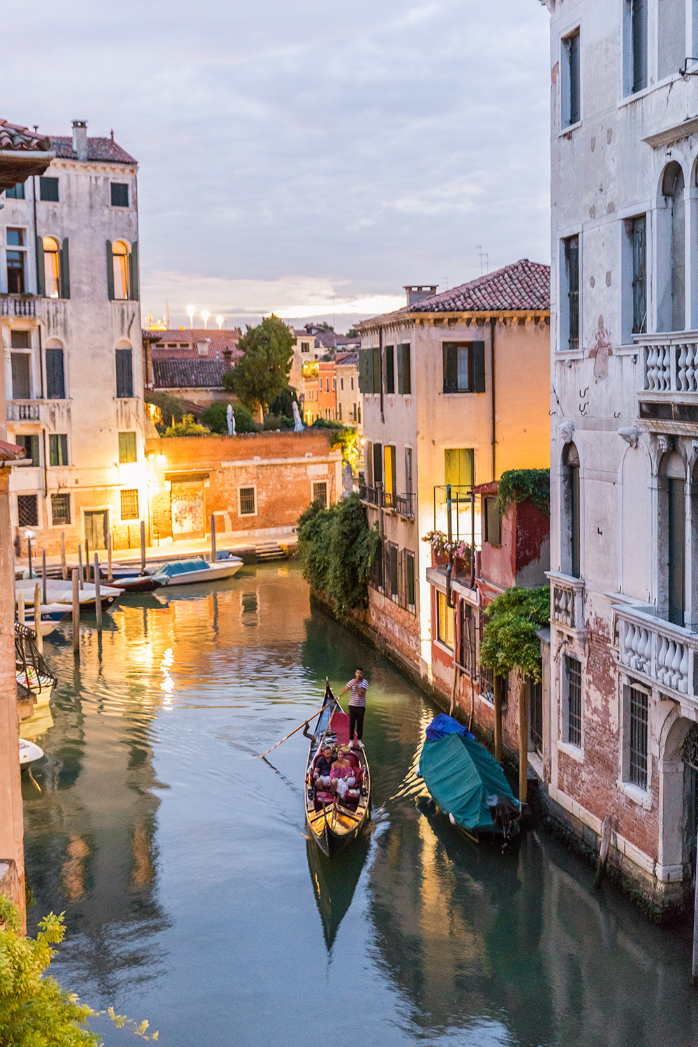 the canal view in the evening is truly charming and romantic
