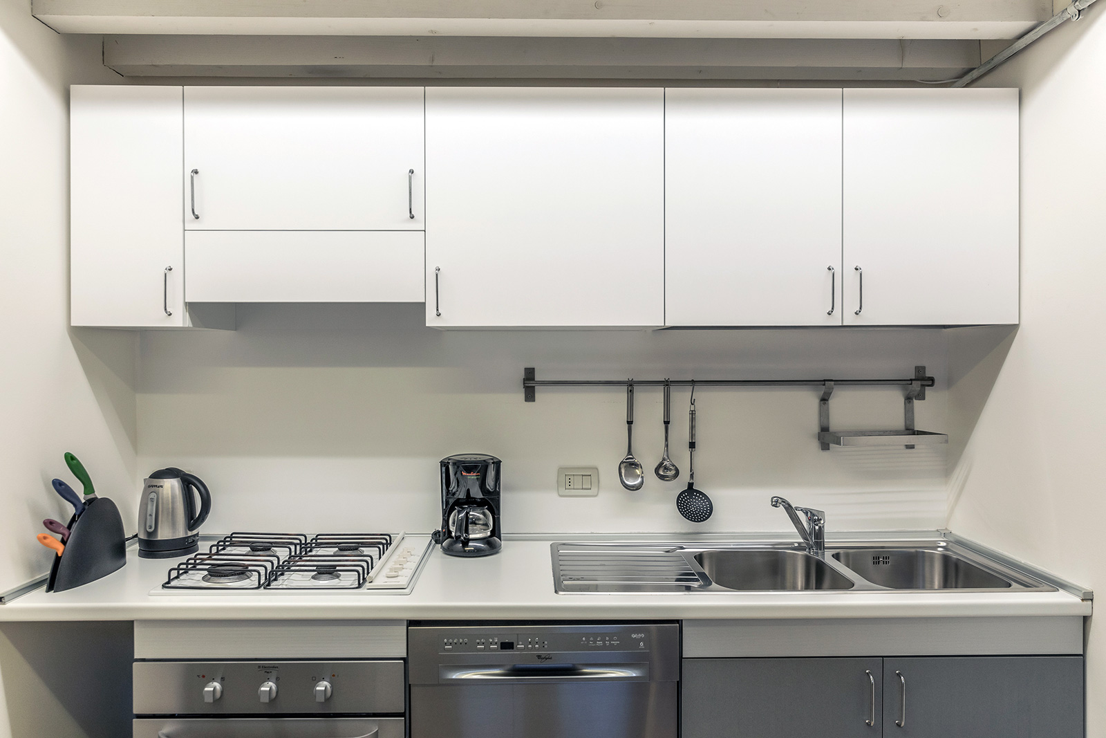 compact but well equipped kitchen